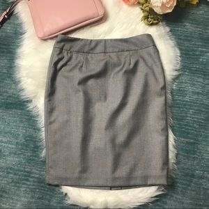 NWT Calvin Klein Grey Pencil Skirt Size 4P